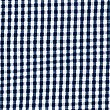 Girls' Pure Cotton Gingham Dress, NAVY, swatch