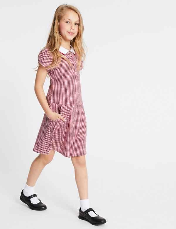 da6823699fb30 Girls' Pure Cotton Gingham Dress