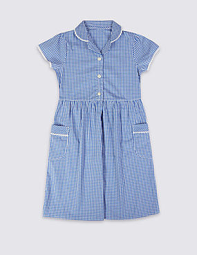 Girls' Easy Dressing Gingham Dress