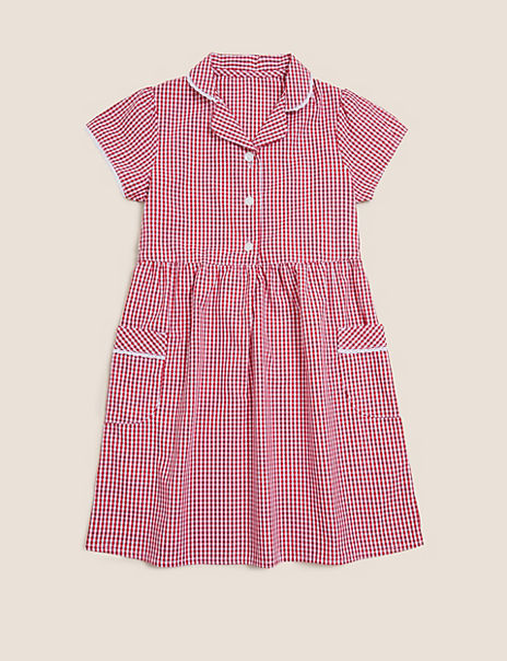 Girls' Pure Cotton Skin Kind™ Gingham Dress