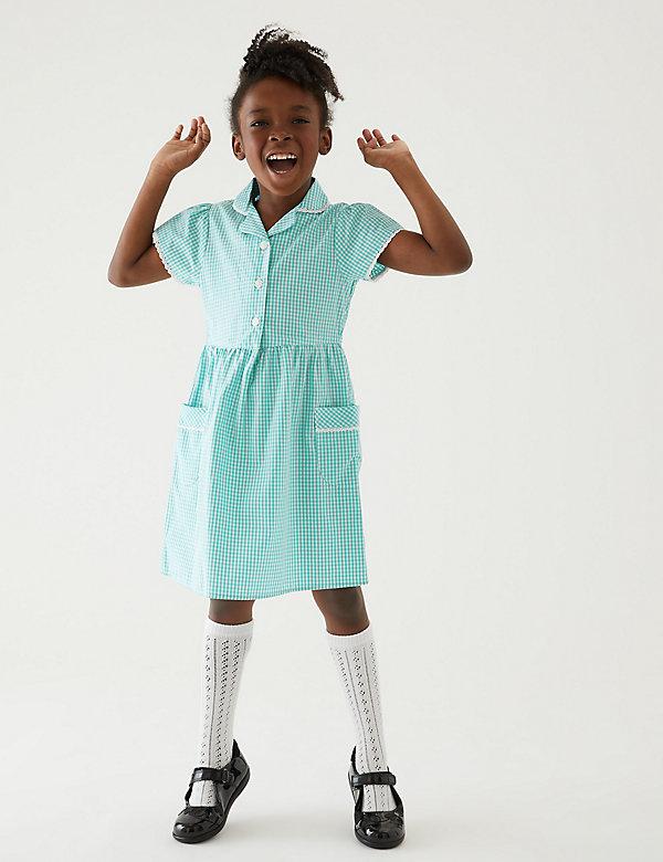 Skin Kind™-schooljurk met Gingham-ruit voor meisjes (2-14 jaar)