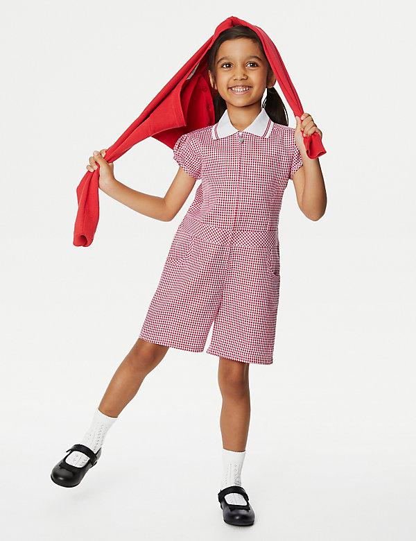 Schoolspeelpakje met Gingham-ruit voor meisjes (2-14 jaar)