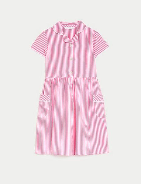 Girls' Pure Cotton Striped Dress