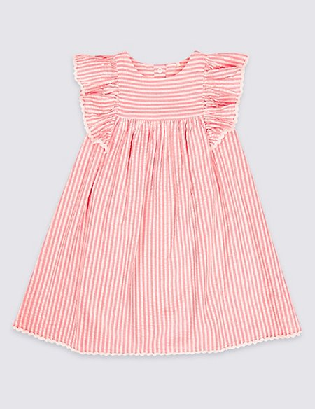 Pure Cotton Striped Dress (3 Months - 7 Years)