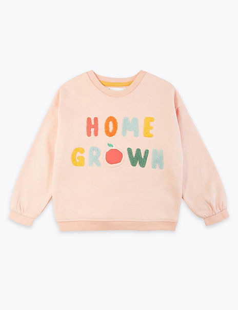 Home Grown Slogan Sweatshirt (2-7 Years)