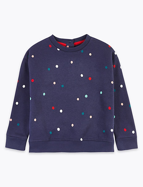 Spotted Print Sweatshirt (3 Months - 7 Years)