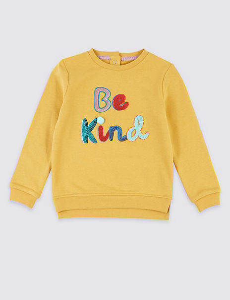 Be Kind Embroidered Motif Sweatshirt (3 Months - 7 Years)