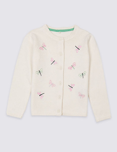 Dragonflies Knitted Cardigan (3 Months - 7 Years)