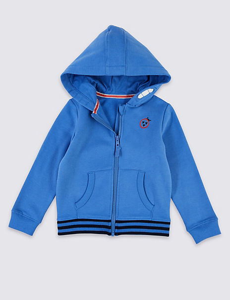 Embroidered Zip Front Ladybird Hoodie (3 Months - 7 Years)