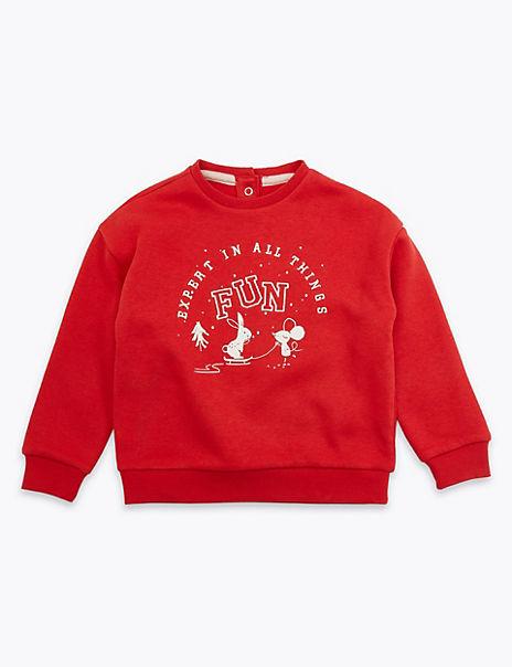 Fun Slogan Sweatshirt (3 Months - 7 Years)