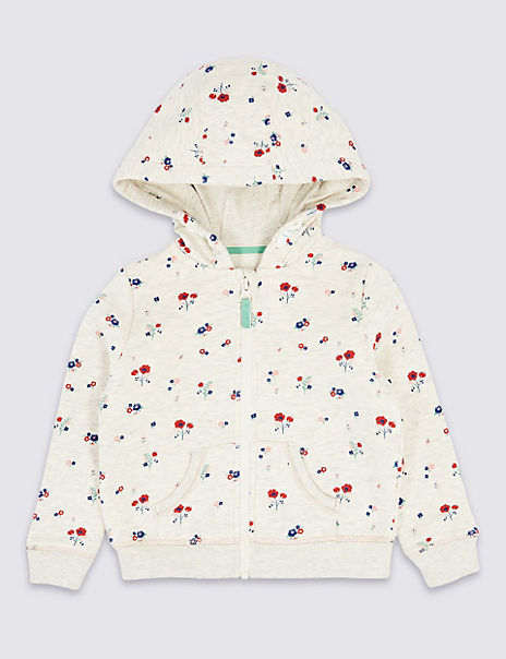 Floral Hooded Top (3 Months - 7 Years)