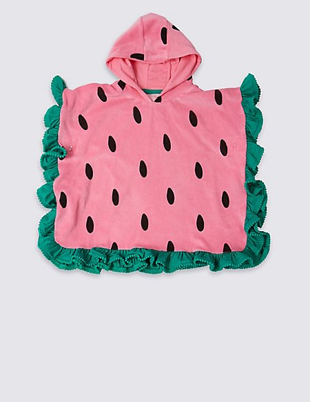 Pure Cotton Watermelon Poncho (3 Months - 7 Years)