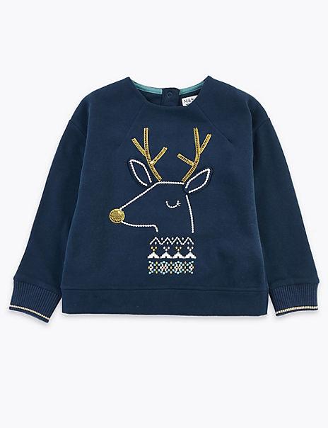 Reindeer Sweatshirt (3 Months - 7 Years)