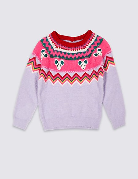 Fairisle Jumper with Cotton (3 Months - 7 Years)