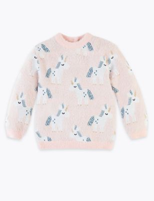 Knitted Unicorn Print Jumper (3 Months   7 Years) by Marks & Spencer