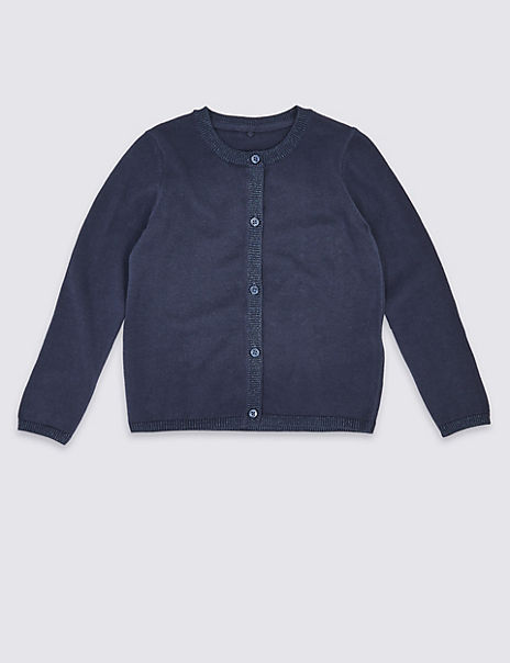 Lurex Trim Cardigan (3 Months - 7 Years)