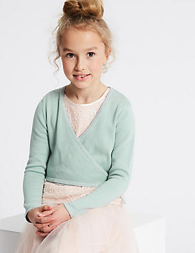 Pure Cotton Tie Waist Cardigan (1-16 Years)