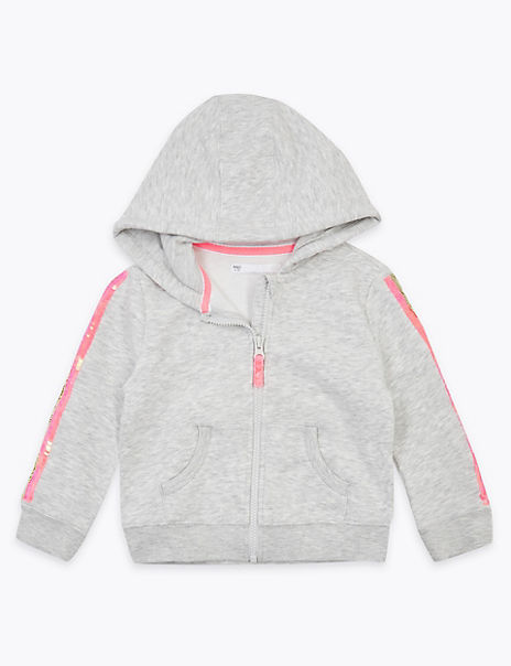 Reversible Sequin Side Stripe Hoodie (2-7 Years)