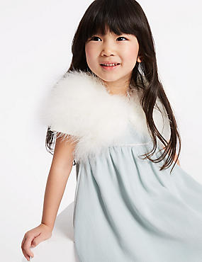 Pure Cotton Marabou Shrug (3-16 Years)