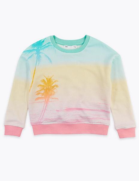Cotton Rich Sunset Photographic Sweatshirt (2-7 Yrs)