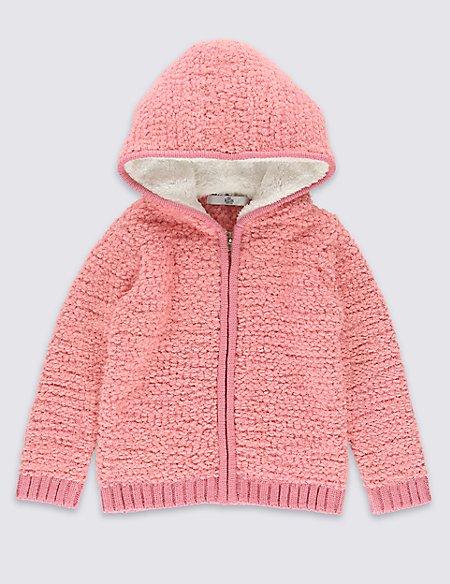 Long Sleeve Hooded Chunky Cardigan (1-7 Years)