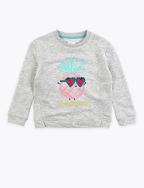 Cotton Rich 'Totally Tropicool' Sweatshirt (2-7 Yrs)