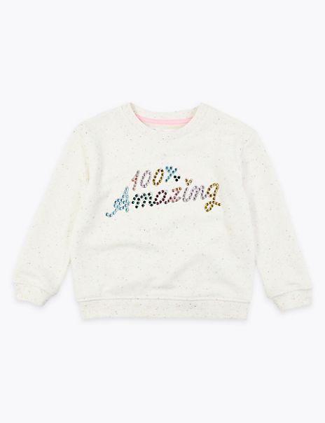 Cotton Rich 100% Amazing Gem Sweatshirt (2-7 Yrs)