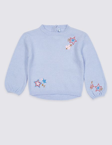 Embroidered Knit Jumper (3 Months - 7 Years)