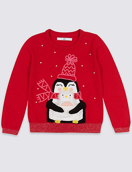 Penguin Christmas Jumper (3 Months - 6 Years)