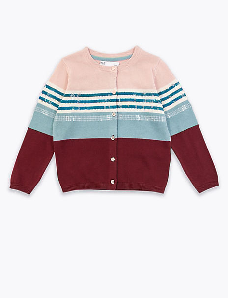 Cotton Striped Cardigan (3 Months - 7 Years)