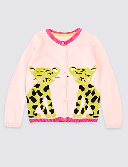 Cotton Rich Leopard Cardigan (3 Months - 7 Years)