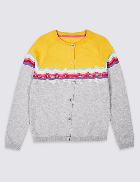 Pure Cotton Cardigan (3 Months - 7 Years)