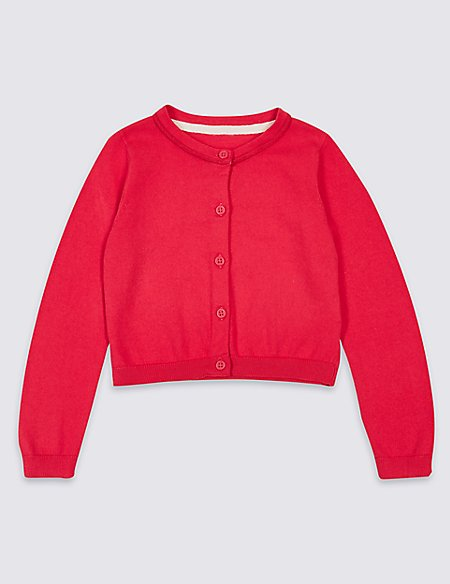 Pure Cotton Cardigan with StayNEW™ (3 Months - 7 Years)