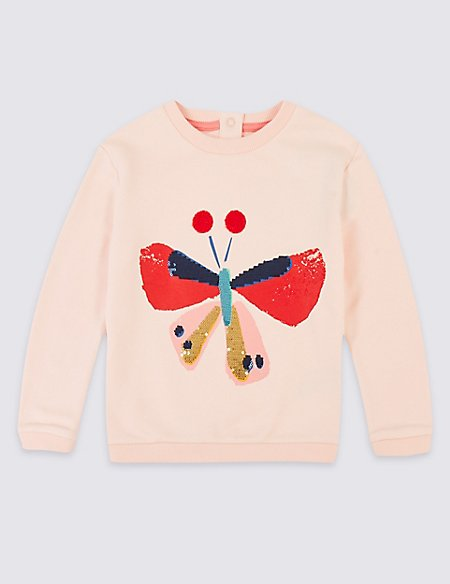 Cotton Rich Sweatshirt (1-7 Years)