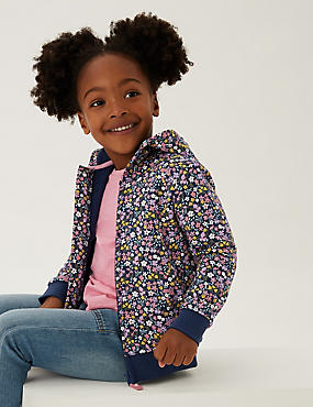 Pure Cotton Floral Print Hoodie (2-7 Yrs)