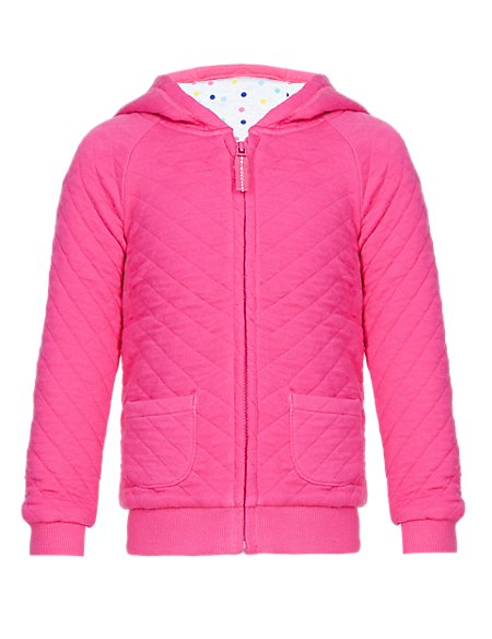 Cotton Rich Quilted Hooded Top (1-7 Years)