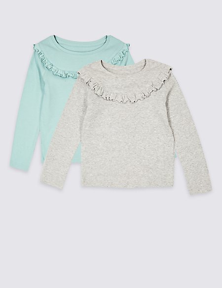 2 Pack Cotton Rich Tops (3 Months - 7 Years)