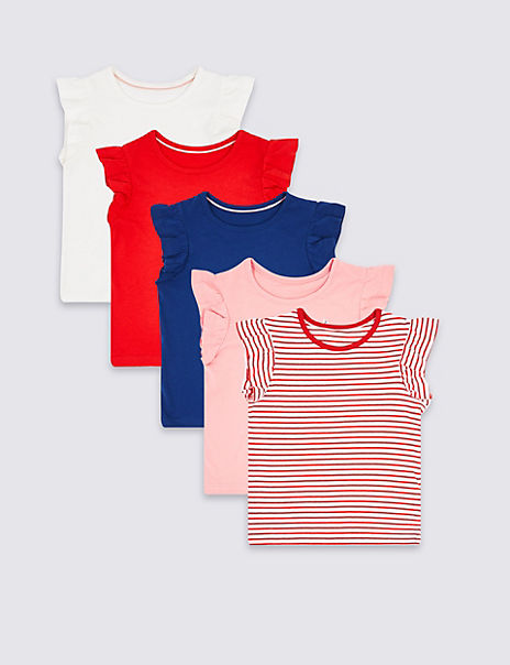 5 Pack Pure Cotton T-Shirts (3 Months - 7 Years)