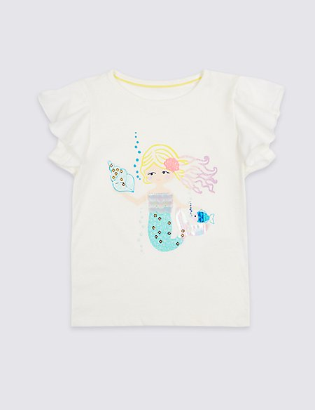 Pure Cotton Mermaid Top (3 Months - 7 Years)