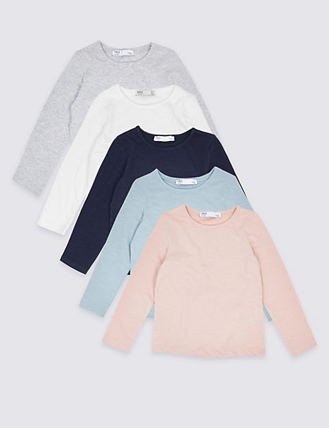 5 Pack Plain Tops (3 Months - 7 Years)
