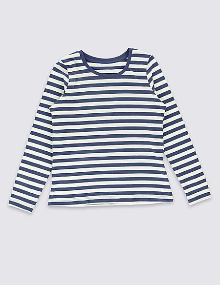 Pure Cotton Striped T-Shirt with StayNEW™ (3 Months - 5 Years)