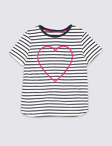 Pure Cotton Striped Top (3 Months - 7 Years)