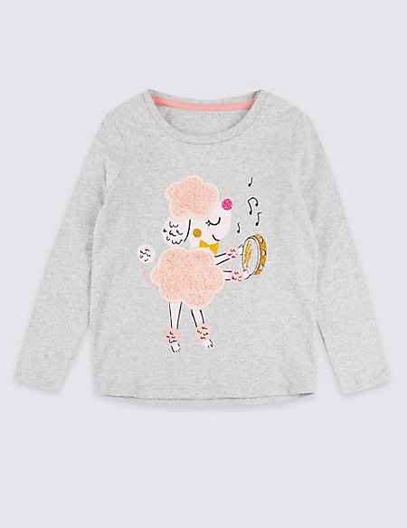 Pure Cotton Poodle Top (3 Months - 7 Years)