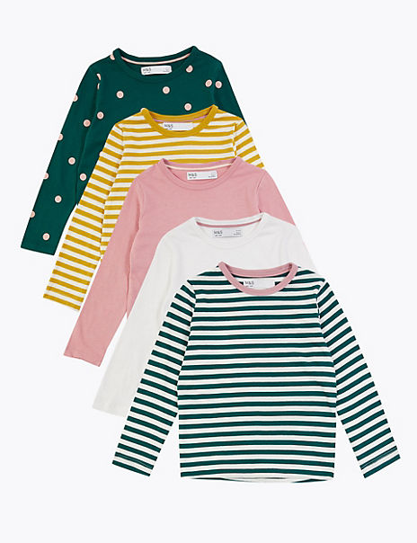 5 Pack Cotton Tops (3 Months - 7 Years)