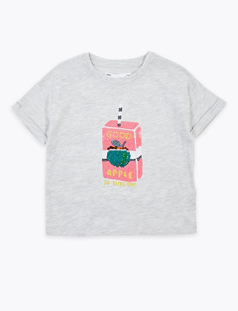 Reversible Sequin Juice Box T-Shirt (2-7 Years)