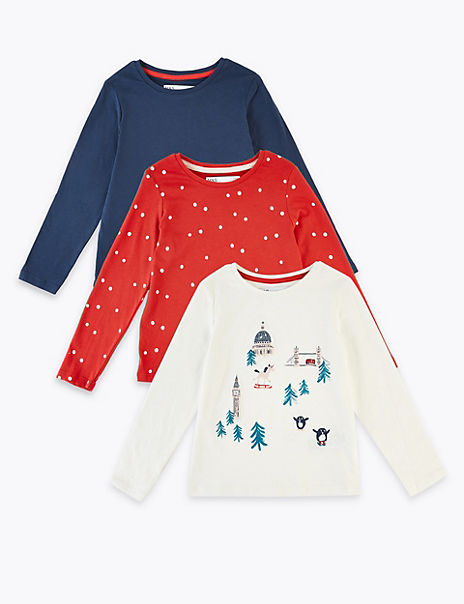 3 Pack Christmas Tops (3 Months - 7 Years)