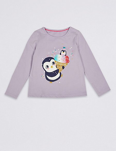 Pure Cotton Penguin Top (3 Months - 7 Years)