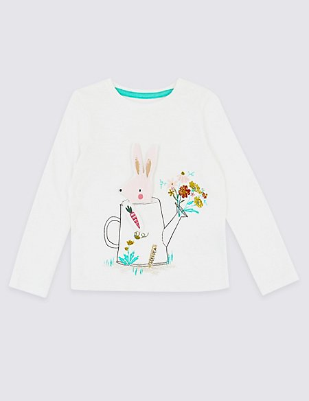 Pure Cotton Bunny Top (3 Months - 7 Years)