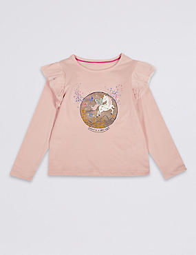 Pure Cotton Unicorn Top (3 Months - Years)