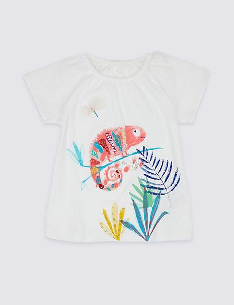 Pure Cotton Iguana T-Shirt (3 Months - 7 Years)